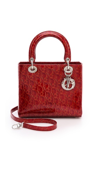 What Goes Around Comes Around Dior Patent Lady Dior Bag