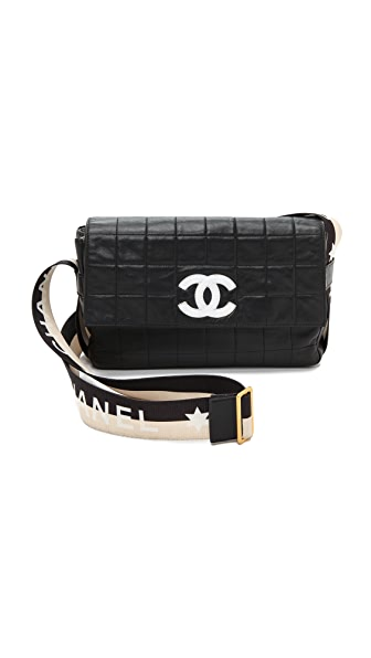 What Goes Around Comes Around Chanel Sport Strap Bag - Black