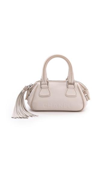 What Goes Around Comes Around Chanel Caviar Handbag - Beige