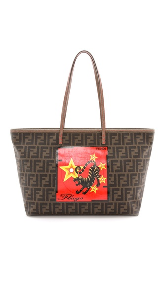 What Goes Around Comes Around Fendi Flags Print Zucca Bag