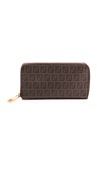 What Goes Around Comes Around Fendi Mini Zucca Zip Wallet