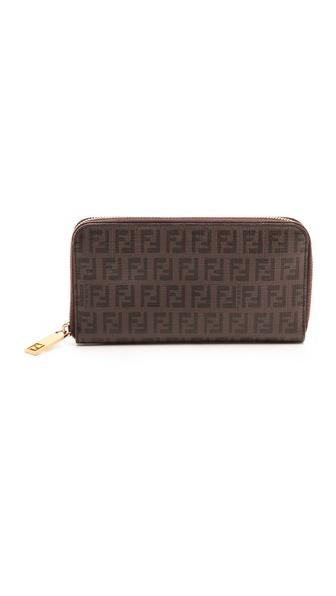 What Goes Around Comes Around Fendi Mini Zucca Zip Wallet