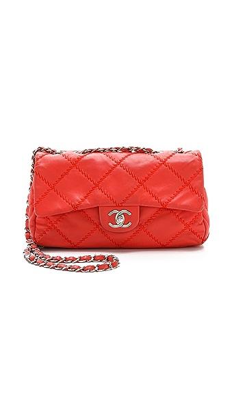 Chanel Chanel Chanel Crazy Stitch Bag (Red)