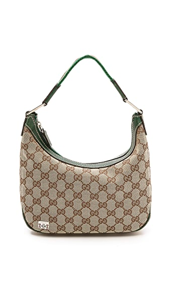 Gucci Gucci Gucci Canvas Hobo (Beige\/Sand\/Tan)