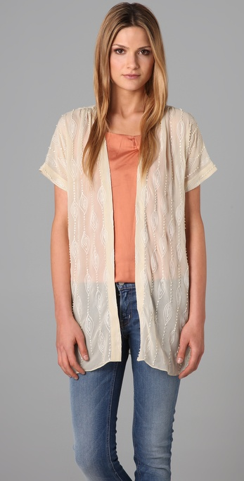 What Goes Around Comes Around Isabelle Beaded Cardigan