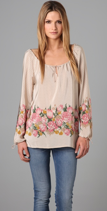 What Goes Around Comes Around Anais Peasant Top