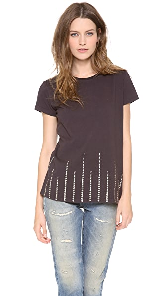 What Goes Around Comes Around Studded Tee