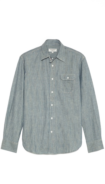 What Goes Around Comes Around Garfield Stripe Chambray Shirt