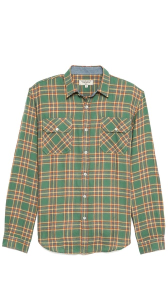 What Goes Around Comes Around Plaid Cotton Sport Shirt