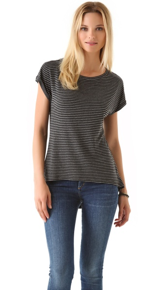Whetherly New Sweater Tee in Stripes