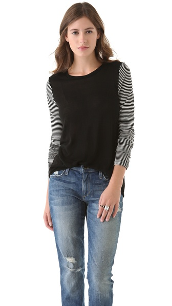 Whetherly Dana Tee with Striped Sleeves