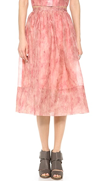 Whistles Vienna Flamingo Feather Full Skirt
