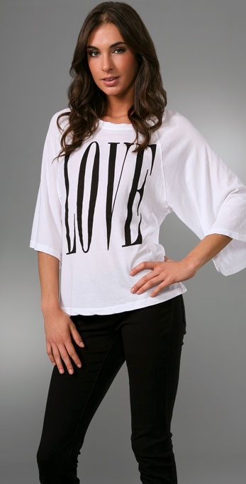 Wildfox Big Love Oversized Raglan Tee