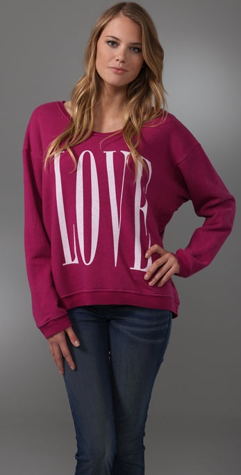 Wildfox Big Love Oversized Sweatshirt