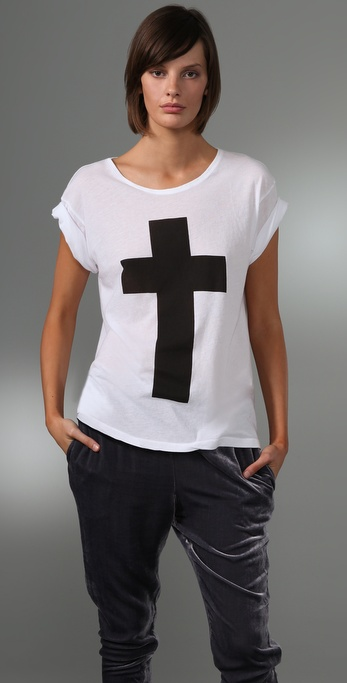 Wildfox Simple Cross Tee