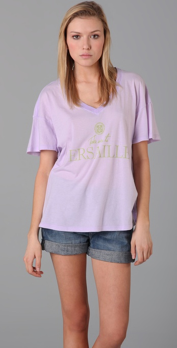 Wildfox Take Me to Versailles Oversized Tee