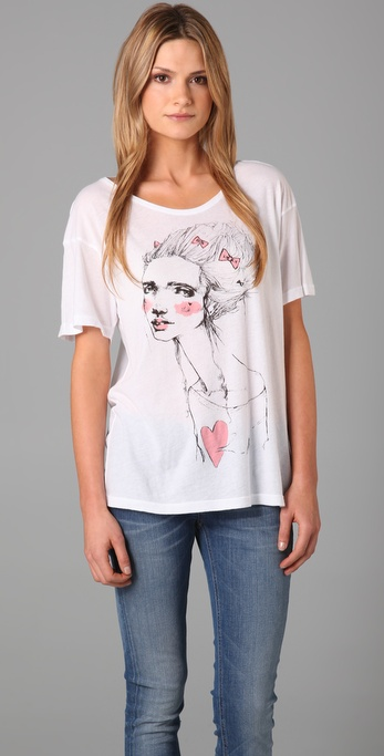 Wildfox 17th Century Girl Tee