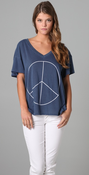 Wildfox New Peace Oversized Tee