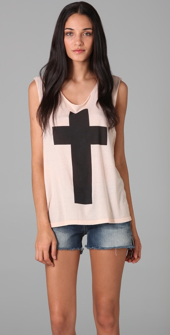 Wildfox Simple Cross Tank