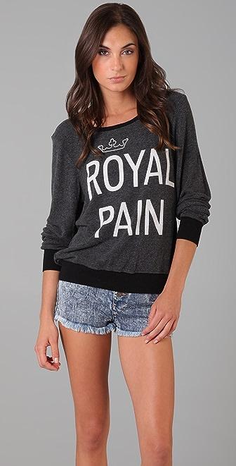 Wildfox Royal Pain Baggy Beach Sweatshirt
