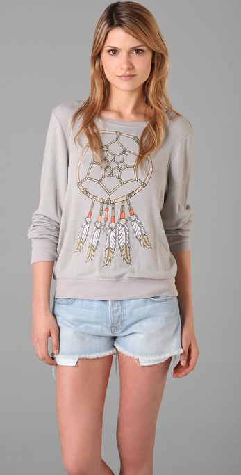 Wildfox Dream Weaver Baggy Beach Sweatshirt