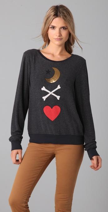 Wildfox Spellbound Baggy Beach Sweatshirt
