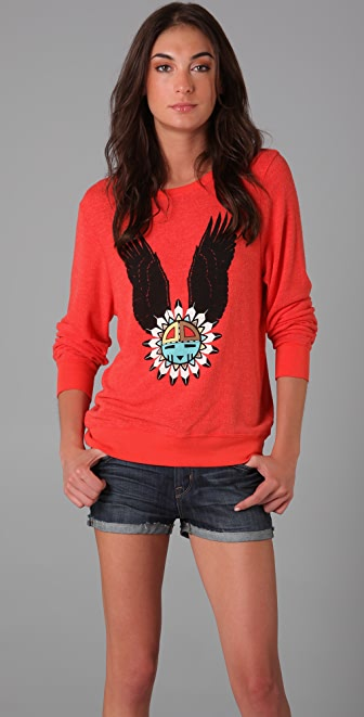 Wildfox Eagle Dream Beach Sweatshirt