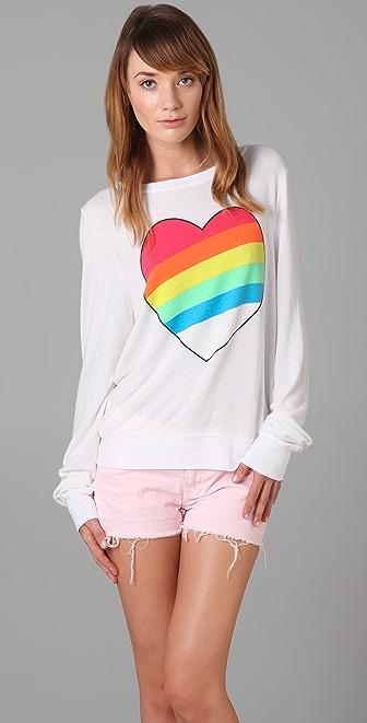 Wildfox Rainbow Bright Beach Sweatshirt
