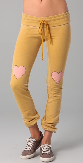 Wildfox Little Heart Skinny Malibu Sweats