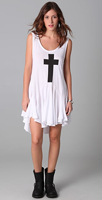 Wildfox Simple Cross Tank Dress