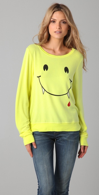 Wildfox Vampire Smile Baggy Beach Sweatshirt