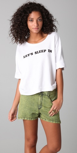 Wildfox Let's Sleep In Oversized Sweatshirt