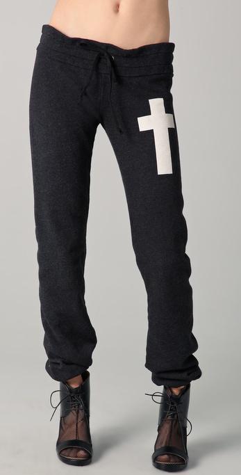 Wildfox Simple Cross Skinny Sweatpants