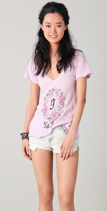 Wildfox Gothic No. 9 V Neck Tee
