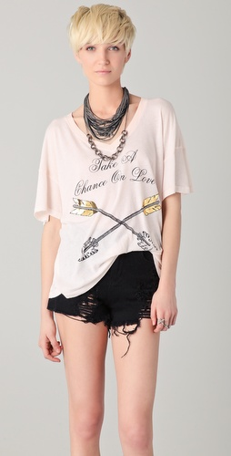 Wildfox Chance On Love Oversized Tee
