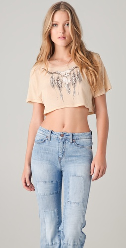 Wildfox Heat Wave Cropped Tee