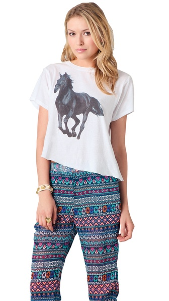 Wildfox Wildfox White Label Black Stallion Tee