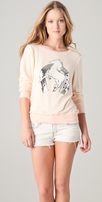 Wildfox Lucky Pony Baggy Beach Sweatshirt