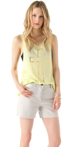 Wildfox Cross My Heart Cutoff Tank