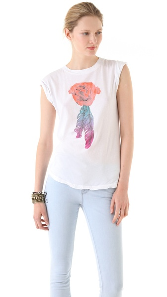 Wildfox Sunshine Rose Desert Crew Neck Tee