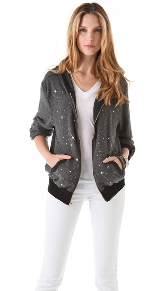 Wildfox I Believe In Magic Malibu Zip Up Hoodie