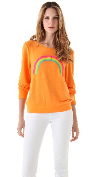Wildfox Rainbow Baggy Beach Sweatshirt