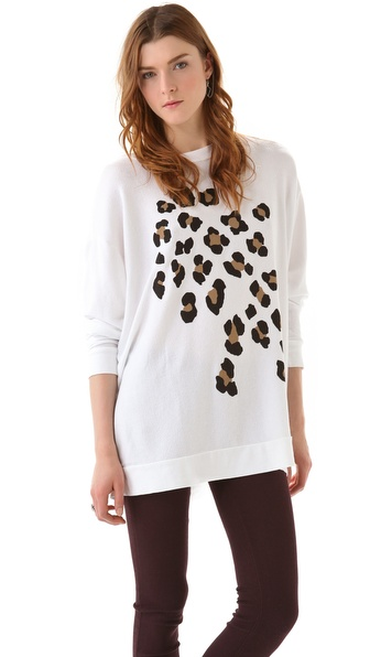 Wildfox Leopard Spots Road Trip Sweatshirt