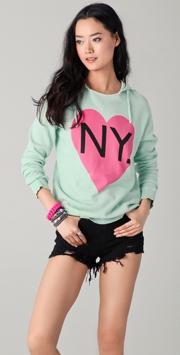 Wildfox Bicoastal Girl Sweatshirt