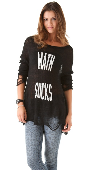 Wildfox Math Sucks Lennon Sweater