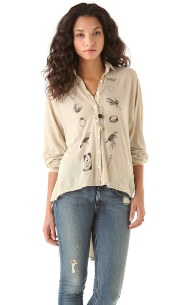 Wildfox Fate Sunday Button Shirt