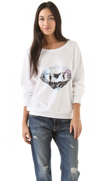 Wildfox Diamond Velour Sweatshirt