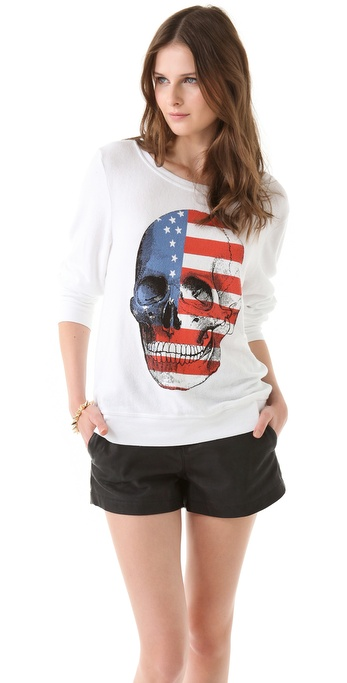 Wildfox American Dream Baggy Beach Sweatshirt