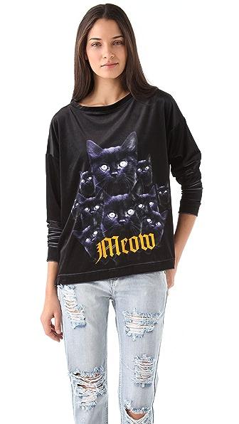 Wildfox Black Cat Pack Top