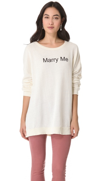 Wildfox Marry Me, Juliet Sweatshirt